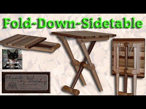 Fold Down Bedside Table -- Murphy Nightstand