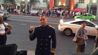 Robbie Williams Surprises Tourists on Hollywood Blvd