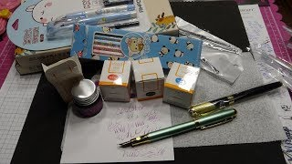 AliExpress Fountain Pens, Kawaii Stationery, and Cheap Ink Haul & Review! (Hero 7031)