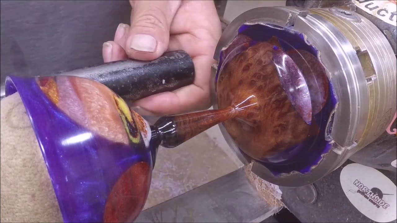 Galactic  Resin And wood Goblet