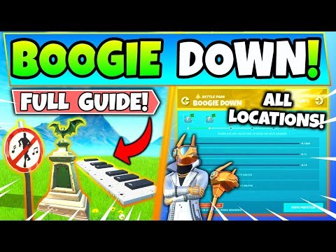 Fortnite BOOGIE DOWN CHALLENGES GUIDE! - Bat Statue, No Dancing Signs (Fortnite Missions)