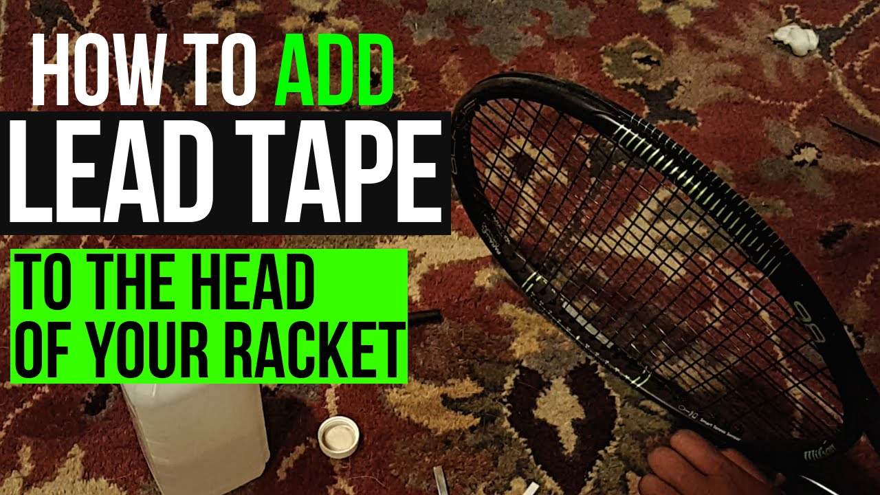 How to ADD Lead Tape/Weight ...