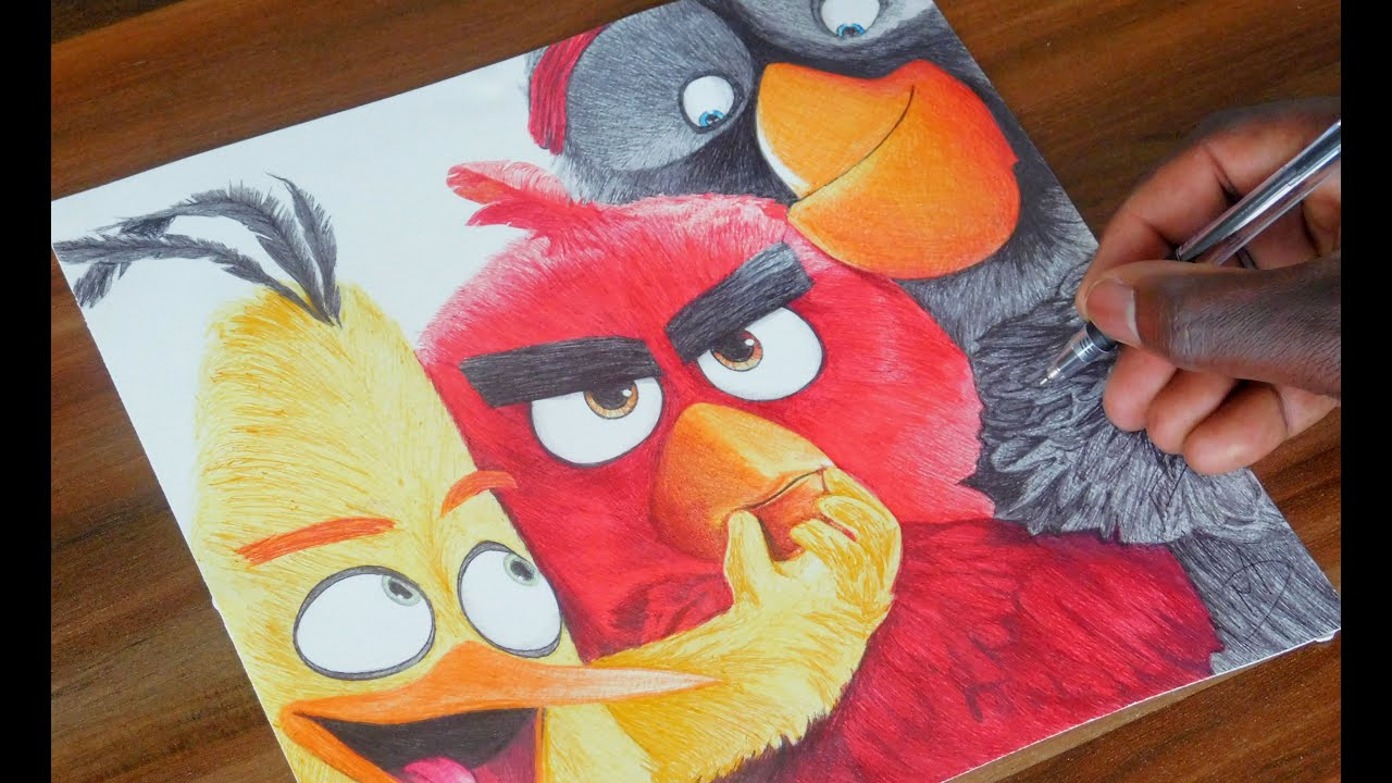 Drawing Angry Birds Movie: The Angry Birds Movie Pen Drawing