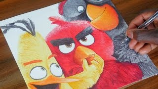 The Angry Birds Movie Pen Drawing - DeMoose Art