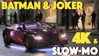 Batman & Joker Suicide Squad Car Chase | 4k & Slow Motion BTS