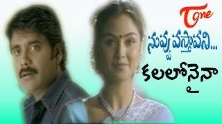 Video Nuvvu Vasthavani Songs - Kalalonaina - Nagarjuna - Simran download MP3, 3GP, MP4, WEBM, AVI, FLV Agustus 2017