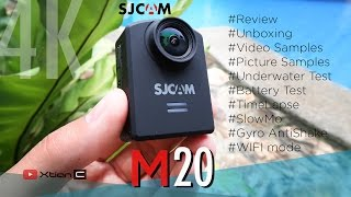 SJCAM M20 4k Action Cam Unboxing amp Review Video 60fps Photo amp Audio Sample
