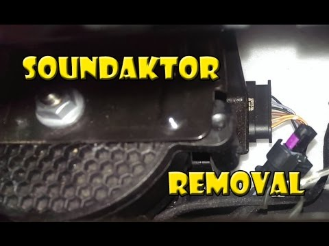 SOUNDAKTOR Removal DIY + Before and After Clips (Golf R)