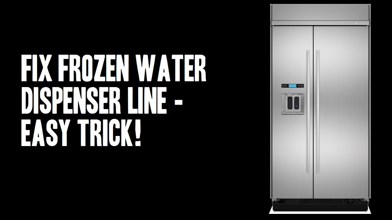 Fix Frozen Refrigerator Water Dispenser Line