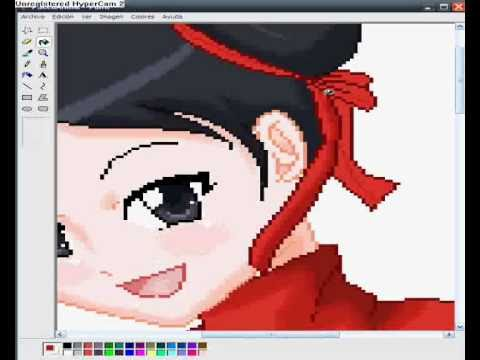Dibujando A Pucca Version Anime En Ms Paint Youtube