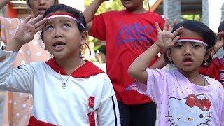 MENYANYIKAN INDONESIA RAYA Bersama Keysha dan Afsheena