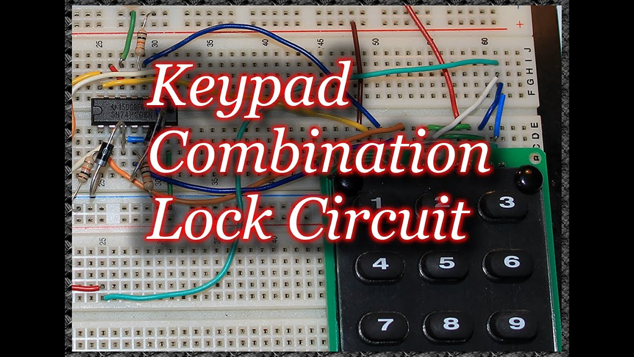 keypad combination lock circuit youtube. Black Bedroom Furniture Sets. Home Design Ideas