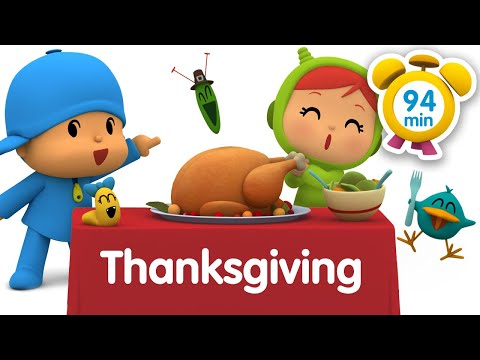 🐓 POCOYO in ENGLISH - Thanksgiving [ 94 minutes ]   Full Episodes   VIDEOS and CARTOONS FOR KIDS