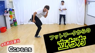 フットワークからの立ち方・仕切り直し とびとら ブレイキン ブレイクダンス bboy Breakdance フットワーク 立ち方
