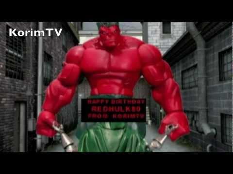 RED HULK SMASHING BIRTHDAY CELEBRATION Redhulk80 Bday Collab