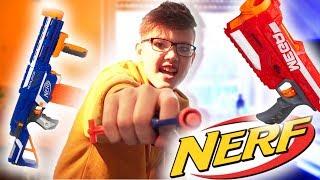 NERF GUN Trickshots! +Schuss ins Gesicht! (eskaliert)