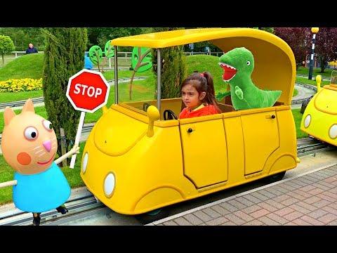 Emily Driving Peppa Pig Car