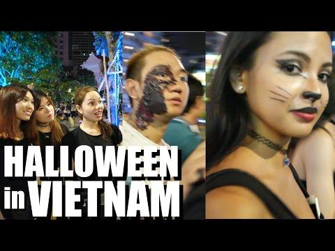 Halloween 2015 in SAIGON, VIETNAM on Nguyen Hue St. - 동영상