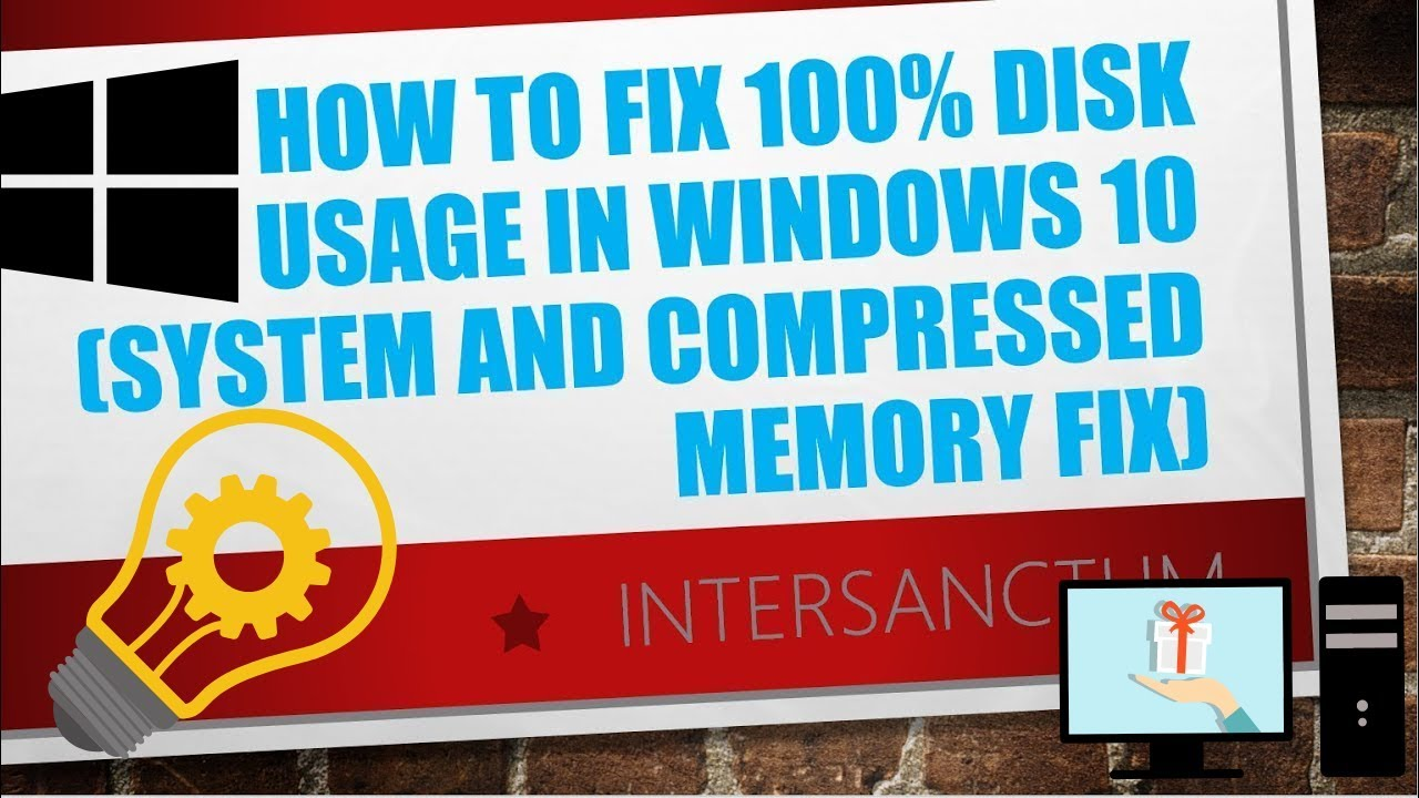 windows 10 system and compressed memory disk usage 100