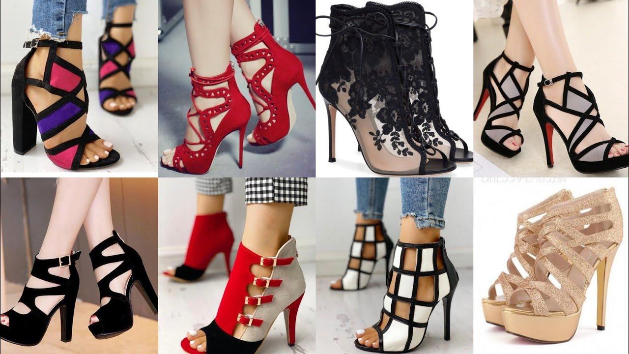 Download Fashion Solid Strappy Heeled Thin Sandals Designs 2k20/ #Multicreativeideas