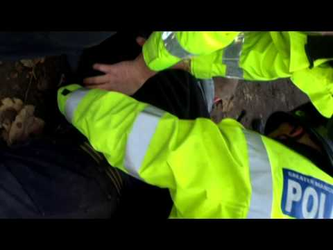 Rob first arrest on Barton Moss protest against Fracking