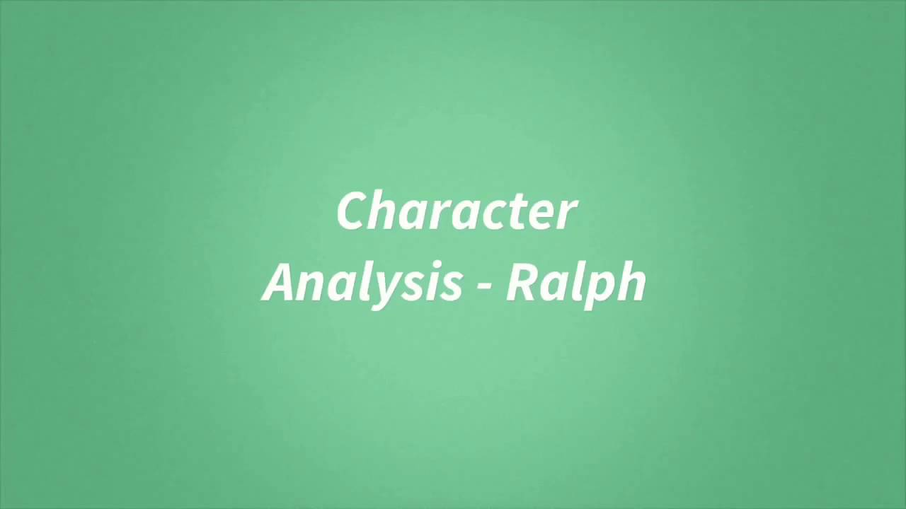 ralphs leaderhsip in lord of the An essay or paper on leadership styles in lord of the flies a ralph and jack respectively represent transformational/ servant leadership and autocratic leadership styles b the novel is about the conflict between these approaches to leading and structuring society a ralph as a.