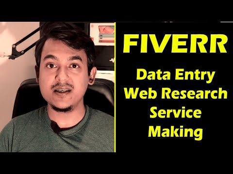 Data entry web research gig making practical tutorial thumbnail