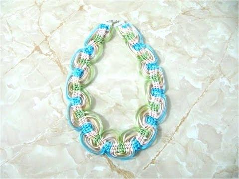 DIY Collares nudos macramé con cintas - Jewelry DIY macrame knots with ribbons