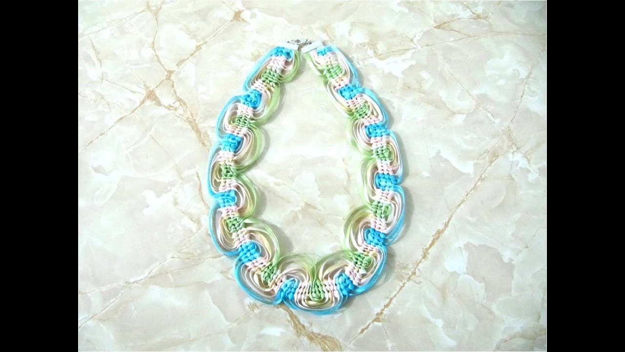 DIY Collares nudos macramé con cintas , Jewelry DIY macrame knots with ribbons