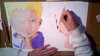 Speed drawing Naruto and Sasuke
