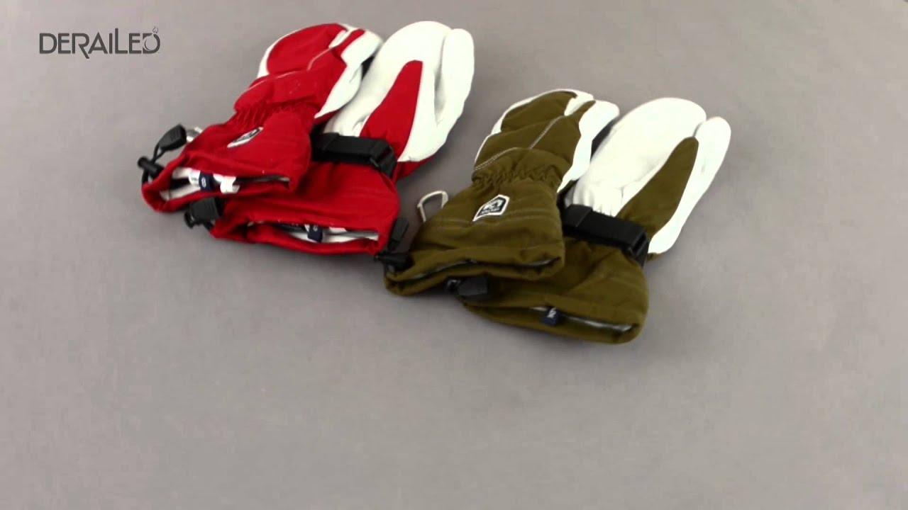 Hestra Heli 3 Finger Ski Gloves Waterproof Insulated For Women
