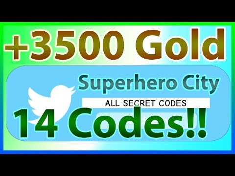 All Codes for Superhero City *14 CODES & 3500 GOLD!!* | 2019 June