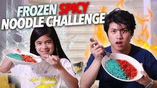 Frozen Spicy Noodle Challenge! | Ranz and Niana