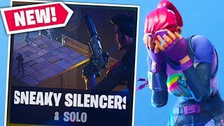 SNEAKY SILENCERS *NEW* Gamemode in Fortnite Battle Royale | JeromeASF