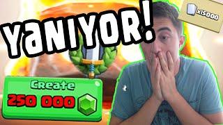 Ortalık Yangın Yeri! | 15000 Kart 250K Taş Değerindeki Turnuvaya Girdim | Clash Royale Türkçe