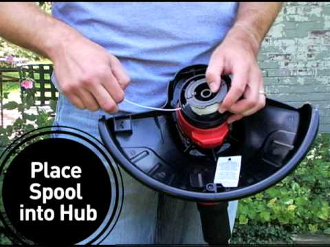 How To Change A String Trimmer Replacement Spool Youtube