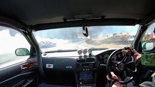 AIZ号クラッシュ!!やっちゃいました!【DRIFT】 スポーツランド山梨 Drift crash onboard camera