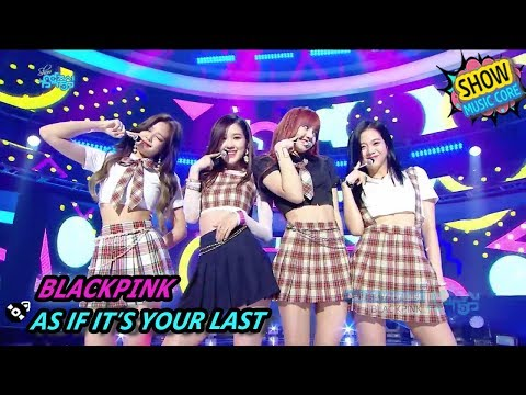 Download  HOT BLACKPINK - AS IF IT'S YOUR LAST, 블랙핑크 - 마지막처럼 Show  core 20170812 Gratis, download lagu terbaru