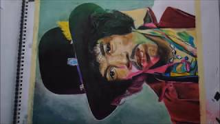 Drawing Jimi Hendrix - Time Lapse