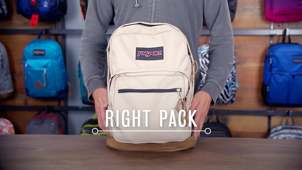 JanSport Pack Review: Right Pack - YouTube