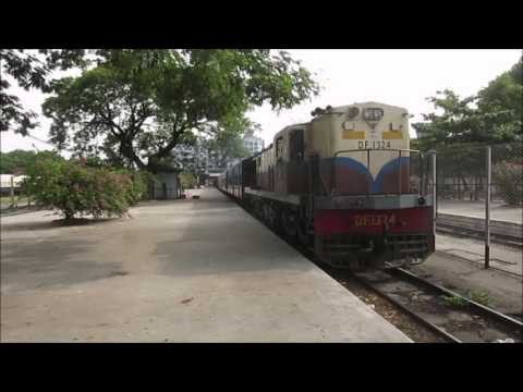 Myanmar Railways - mixed train at Mandalay