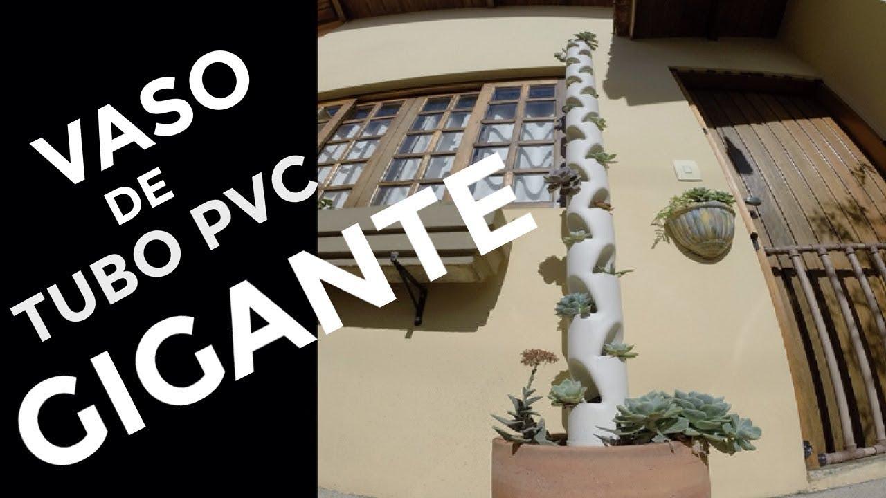 Vaso De Tubo Pvc Como Fazer Vaso Para Plantas Feito De Cano Pvc