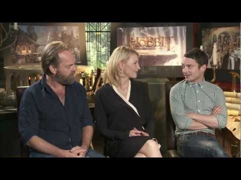 The Hobbit (2012) Exclusive Hugo Weaving, Cate Blanchett & Elijah Wood Interview