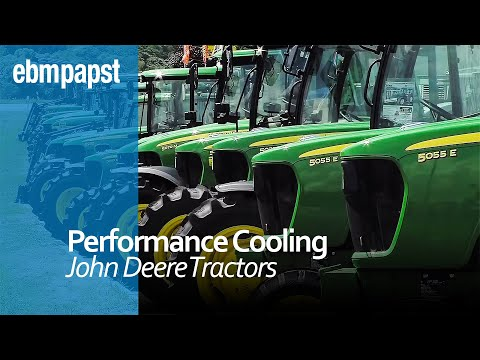 Charge air cooling in John Deere 5080 R tractors | ebm-papst