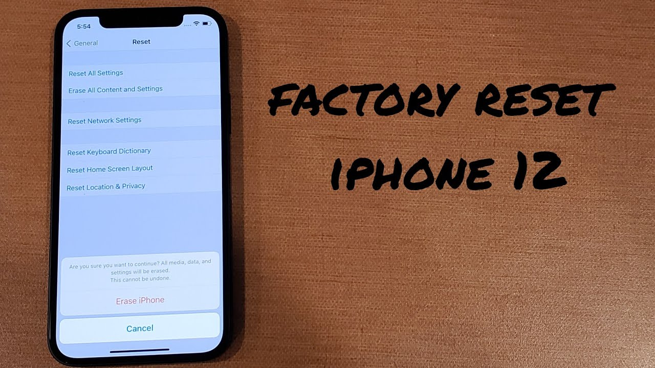 how to factory reset iphone 12, 12 mini, 12 pro, 12 pro max