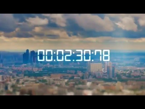 Skrillex - Intro (Countdown Moscow Time Lapse) [7END Remake] FULL HD