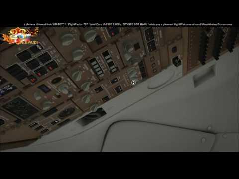 X-Plane 10 | Boeing 757-200 |[VATSIM] Astana - Novosibirsk UP-B5701