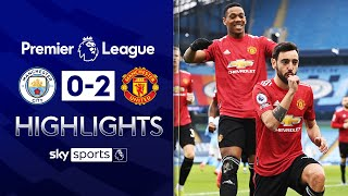 Man Utd end Man City's 28-game unbeaten run! 😲| Man City 0-2 Man United | EPL Highlights