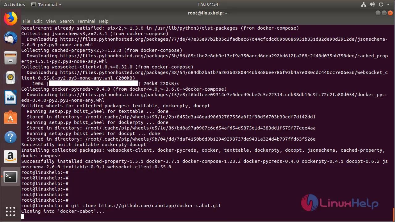 How to Install Cabot Monitoring Tool using Docker on ubuntu 18 04