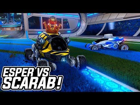 """ARTILHEIRO DOS CARROS MAIS """"ESTRANHOS""""??! SCARAB VS ESPER - Rocket League"""